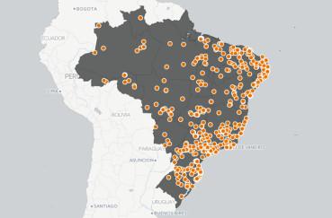 Mapa de depoimentos do QEdu